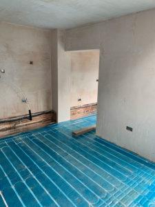 Example of a retrofit underfloor heating system