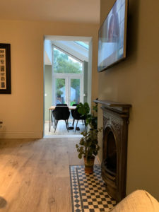 Example of a finished underfloor heating project