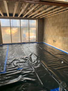 Example of a concrete screed underfloor heating installation